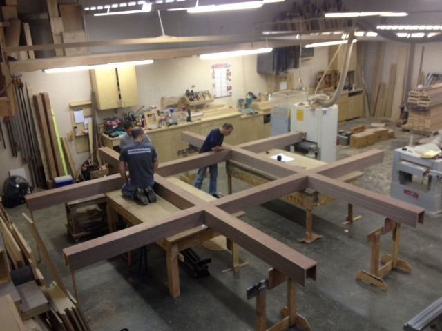 Fabrication of ceiling millwork