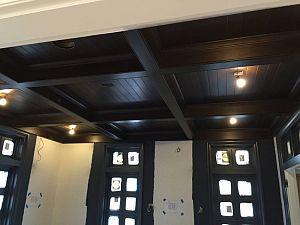 Installing ceiling millwork